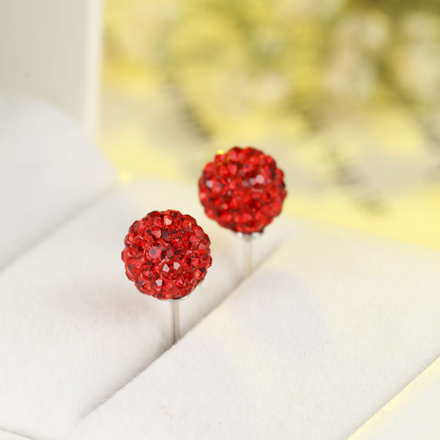 9e7a0a751 Martick Candy Color Stud Earrings With Shining CZ Boll Earrings Wonder  Woman Jewelry 925 Silver Bijoux For Femmal GSE6