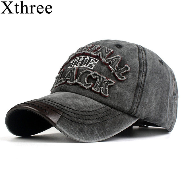 Xthree hot retro baseball cap fitted cap snapback hat for men women gorras  casual casquette Letter embroidery black cap 633a7d89024