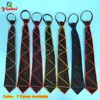 20 штук EL Провода галстук светящиеся код 10 Цвета выбором ночного флуоресцентный галстук для события светящиеся украшения партии поставки