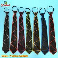 20 штук EL проволочное крепление светящееся изделие 10 цветов выбор ночной флуоресцентный галстук для события светящиеся вечерние украшения