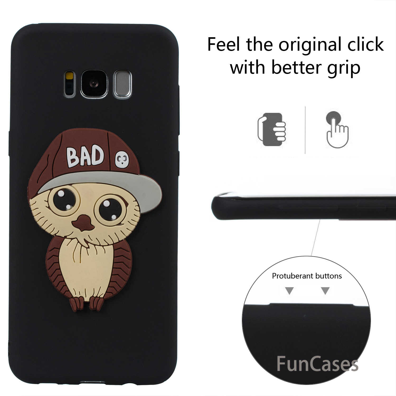Keren Owl Kasus Funda sFor Samsung S8 Ditambah Lembut Silikon Kembali penutup Hoesje Exotic Balik Kasus sFor Samsung Galaxy S8 Plus Telefon