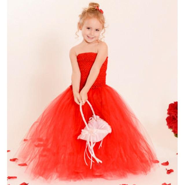 Elegante Baby und Mädchen Valentines Tutu Kleider Voller Länge Red ...