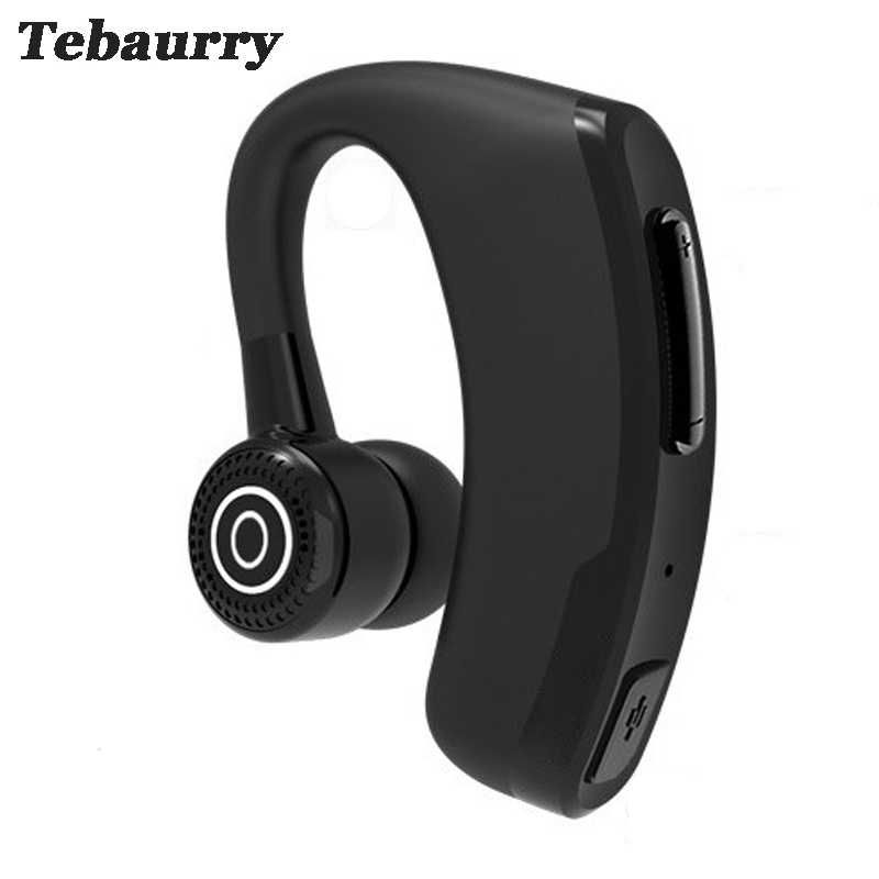 Tebaurry P9 Handsfree Business Bluetooth Earphone With Mic Voice Control Headset Wireless Bluetooth Headphones for phone PK v9 bq 618 wireless bluetooth v4 1 edr headset support handsfree earphone with intelligent voice navigation for cellphones tablet
