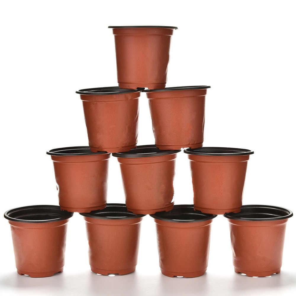 10 Pcs Set Plastic Round Flower Pot