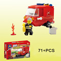 KAZI Open Intelligence Assembled Toys Light Fire Fighting Plastic Blocks Inserted with Firefighters Aberdeen