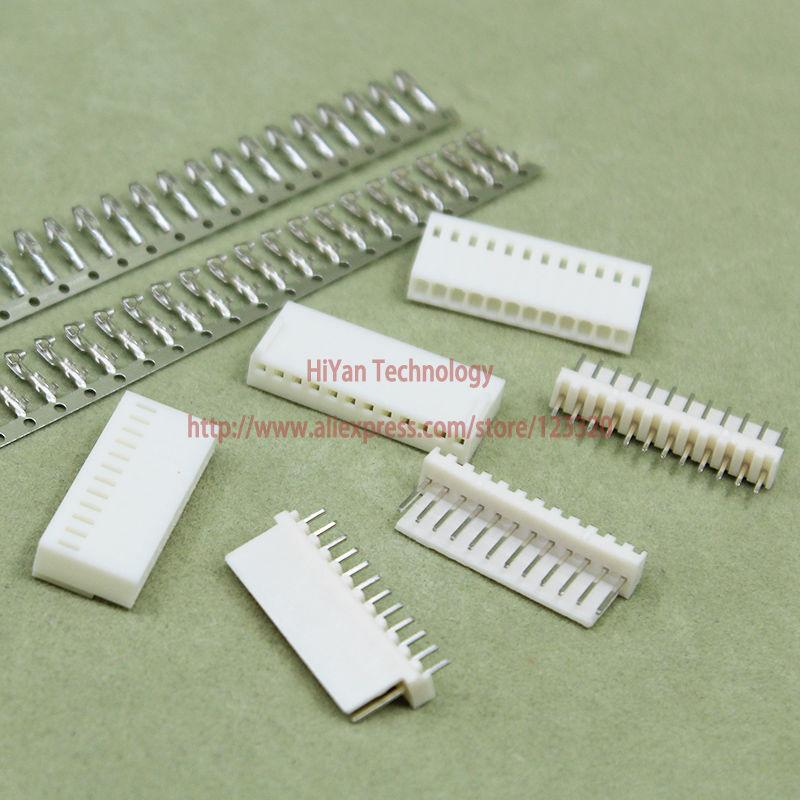 (50sets/lot) connector KF2510 2510 12Pin Pitch:2.54MM/0.1inch 180 Degree Pin Header + Terminal + Housing KF2510-12P
