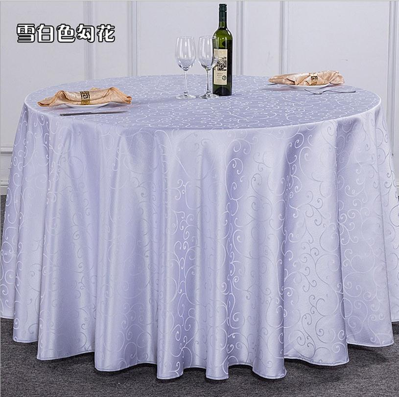 10pieces 110 inch polyester round tablecloths nappe ronde. Black Bedroom Furniture Sets. Home Design Ideas