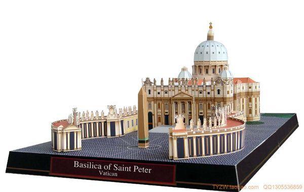 100% Wahr Stereo Papier Modell Diy Puzzle Handwerk Natürlich Origami Modell Durch St. Peter Der Kathedrale, Vatikan