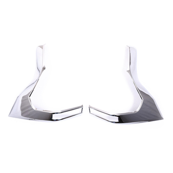 HIGH FLYING ABS Chrome 2pcs Outer Accessories Rear Tail Light Lamp Cover Trim For Toyota Land Cruiser Prado FJ150 2018