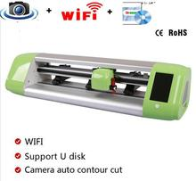 15″ min Vinyl Cutter Automatic Contour Cutting Plotter with wifi and camera auto free shipping