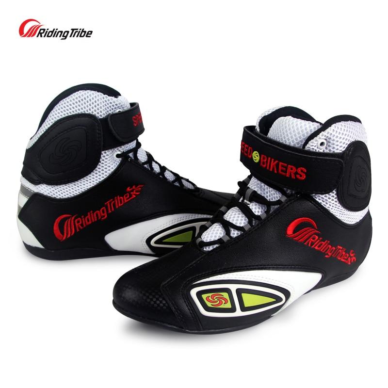 купить 2017fashion Riding Tribe Off-road Racing Shoes motorcycle boots summer Motocross Riding Boots Motos Botas Motociclismo Chuteiras по цене 4136.14 рублей