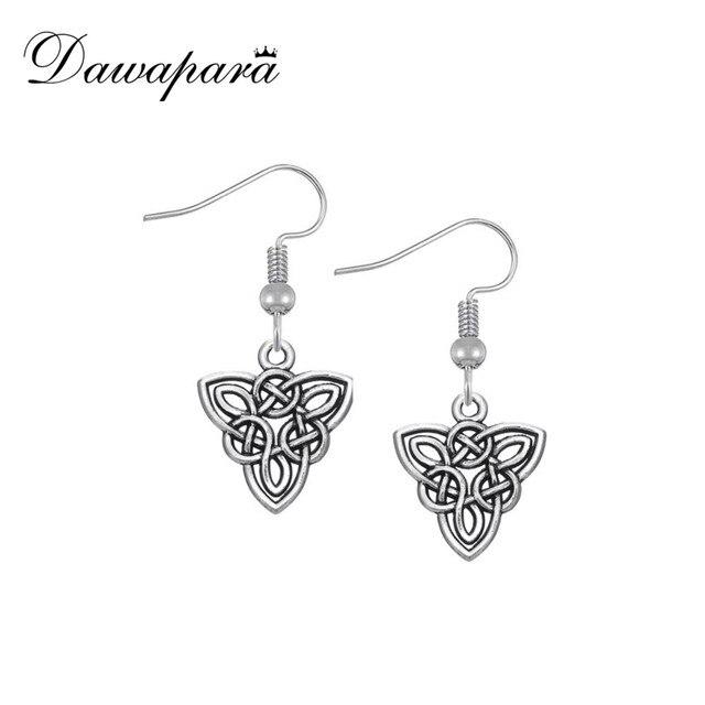 Dawapara Irish Knot Triangle Black Vintage Earring Female Ethnic Party Small Dangling Earrings For Women Fashion
