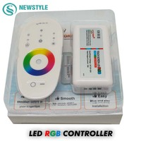 1set Lot DC12 24V 18A RGB Led Controller 2 4G Touch Screen RF Remote Control For