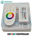 1set/lot DC12-24V 18A RGB led controller 2.4G touch screen RF remote control for 5050/3528 RGB led strip/bulb/downlight