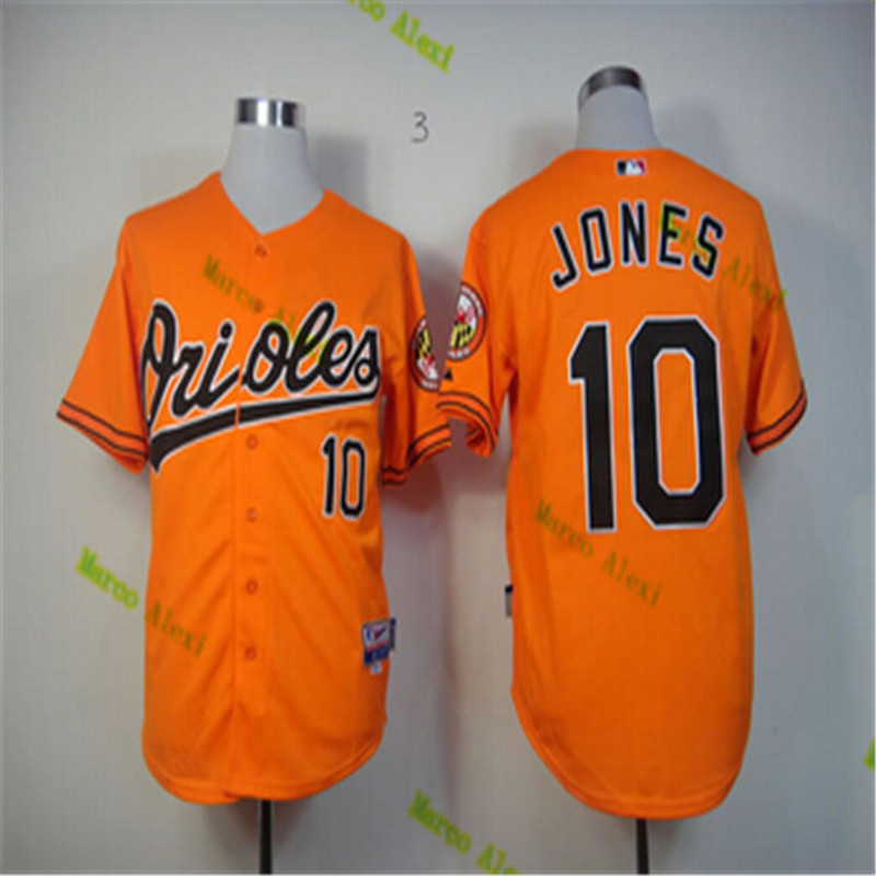031e231cab4 ... discount 10 adam jones jersey baltimore orioles jersey baseball jersey  white black grey orange 55609 48baf