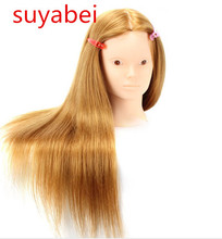 60cm hair  95% natural mannequin head length wig styling