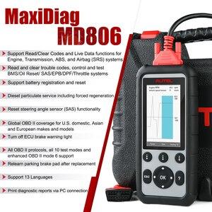 Image 3 - Autel MaxiDiag MD806 obd2 автомобильный сканер, диагностический инструмент для автомобиля scania OBD 2, Профессиональный Автомобильный сканер, Автомобильный сканер