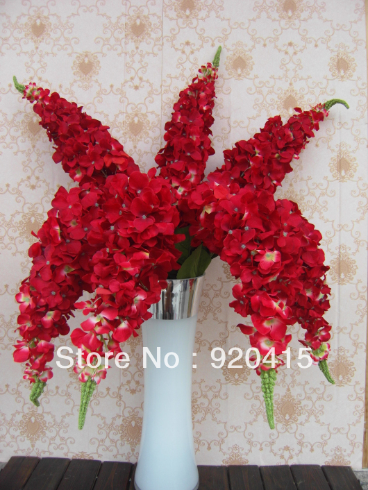 115cm Tall Artificial Hydrangea Silk Flowers With Stem In White Blue Red