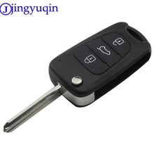 jingyuqin 3 Buttons Remote Folding Flid Car Key Case Cover Fob Styling For Kia K2 for Hyundai Avante Key Shell Cover Housing
