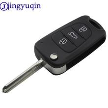 jingyuqin 3 Buttons Remote Folding Flid Car Key Case Cover Fob Styling For Kia K2 for Hyundai Avante Key Shell Cover Housing