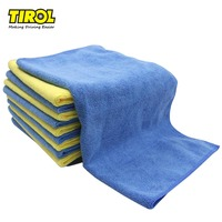 TIROL 12PCS Microfiber Car Cleaning Towel 40*40cm Two Color Multifunctional Car Cleaning Washing Cloth T22454a Free Shipping