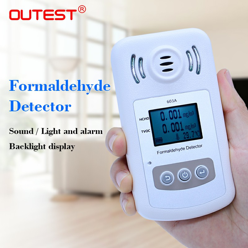 TVOC Formaldehyde Detector gas analyzer air quality tester hcho tvoc gas alarm detector alarming prompt lcd backlight display air quality monitor formaldehyde tvoc detector with digital display