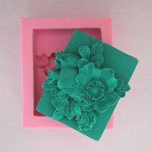 Wholesale Soap Molding Silicone dies Flower Pattern silicone mold Handmade Salt Craft Making mould