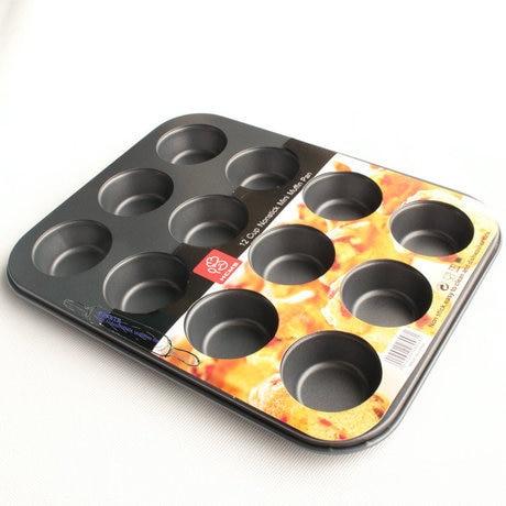 2016 New Nonstick Bakeware 12 Cup Cake Pan Mini Muffin Pan Cake Molds Cake Decorating Tools