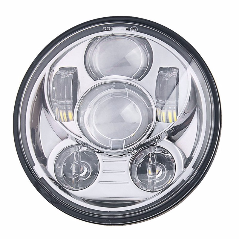 5.75 Inch Daymaker Projector LED Headlight for Harley Davidson Motorcycles Headlamp 45W Chrome cvcxvvv