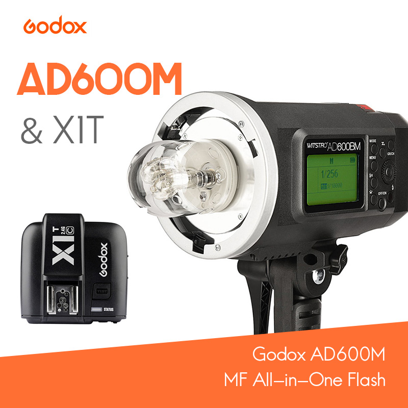 Godox AD600M MF HSS batteria Al Litio All-in-One Flash per Bowen/Godox Mount + X1T Trigger KIT per Nikon/Cannone/SonyGodox AD600M MF HSS batteria Al Litio All-in-One Flash per Bowen/Godox Mount + X1T Trigger KIT per Nikon/Cannone/Sony