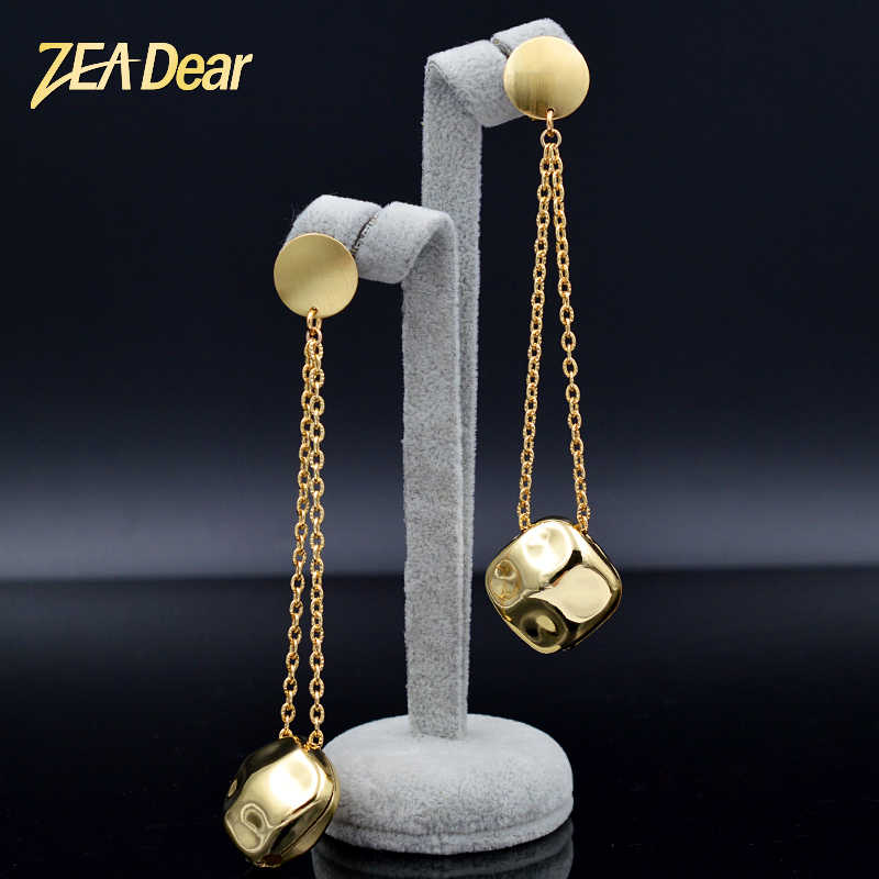 ZEADear Jewelry Classic Jewelry Square Earrings For Women Long Drop Dangle Earrings For Party Wedding Daily Earrings Findings