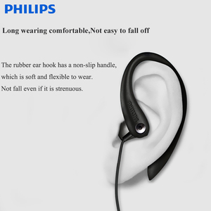 Image 3 - 100% Original PHILIPS SHS3305  earphone  headsets  ear Hanging  Type Headphones Sports Support smartphones  For Samsung Xiaomi