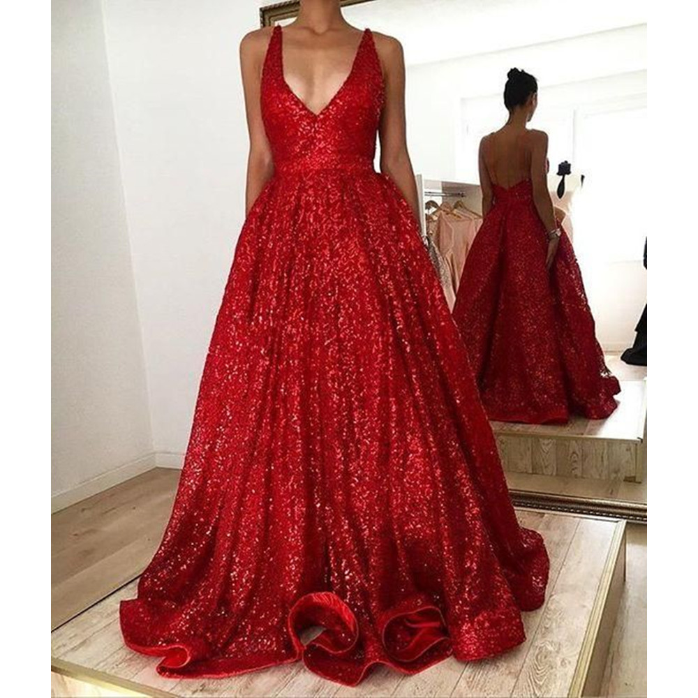Elegant Burgundy Long Formal   Evening     Dress   A Line Floor Length Spaghetti Strap Backless Summer Party   Dresses   Robe De Soiree