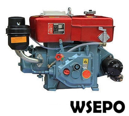 Factory Direct Supply! WSE-R190 10hp E-Start Water Cooled 4-stroke Small Diesel Engine Applied for Generator/Pump/Cultivator factory direct supply inlet 2 5 in outlet 2 in cast iron centrifugal water pump powered by wse 152f 2 5hp gasline engine