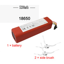 hot deal buy new 5500mah li-ion 18650 mi robot vacuum cleaner accessories parts battery for xiaomi mi robot robotics cleaner