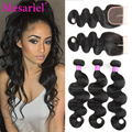 Malaysian Body Wave With Closure 3pcs Human Hair Weave With Closure Human Hair Weave Sale Cheap Bundles With Closures