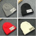2016 New Arrive Women Wool Hat Fashion Knitting Cap Men Casual Letter XPX Winter Warm Hats Flanging Skullies Beanies Gorras Caps