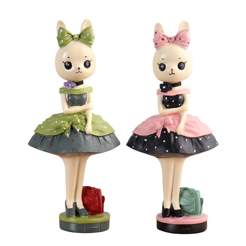 Modne zajčke figurice ornament risanka smola zajček številke - Dekor za dom - Fotografija 5