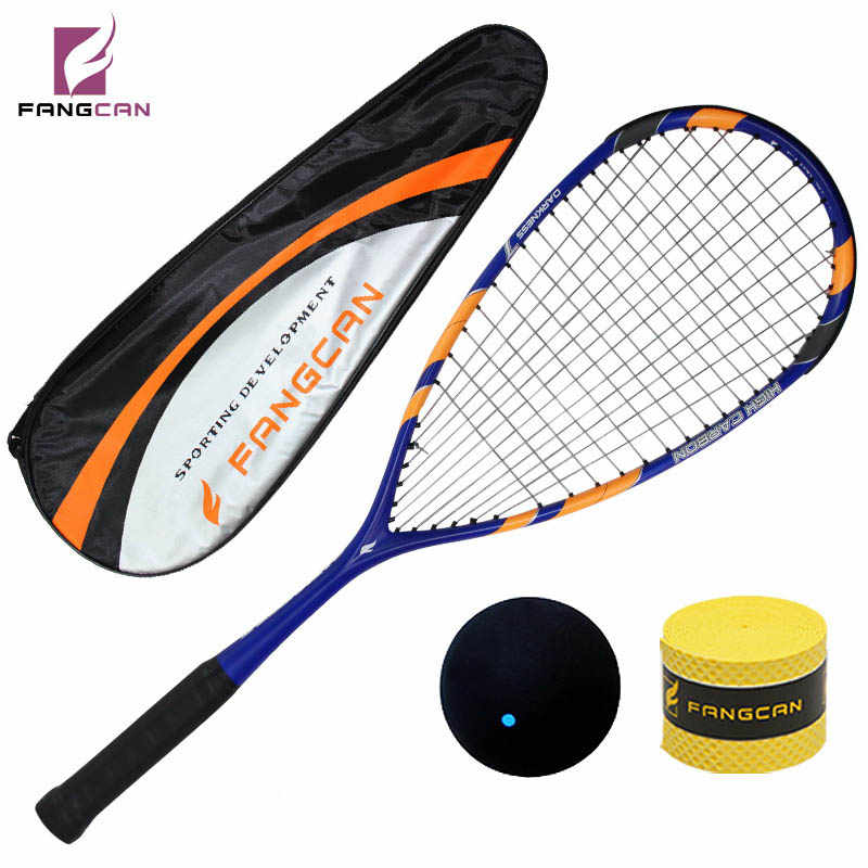 1 pc FANGCAN Darkness 7 100% Carbon 145g Squash Racket with Squash Sting Bag for Senior Player