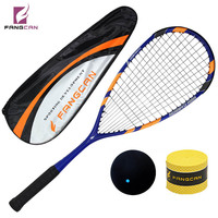 1 pc FANGCAN Darkness 7 H.M. Graphite Squash Racket 145g Hihg Standard Professional Racket for Senior Players