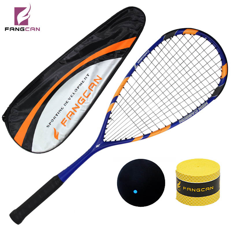 1 pc FANGCAN Darkness 7 H.M. Graphite Squash Racket 145g Hihg Standard Professional Racket for Senior Players ...