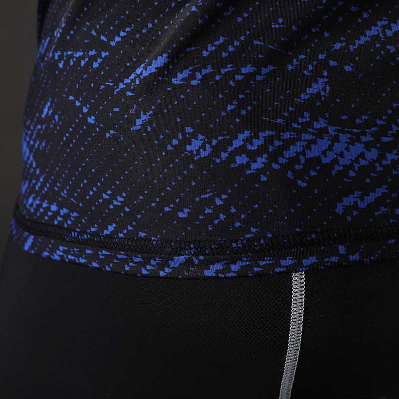 2017 новые 3D футболка с рисунком и длинными рукавами Фитнес Для мужчин Бодибилдинг Crossfit Наньша Марка сжатия рубашки Костюмы M-XXL
