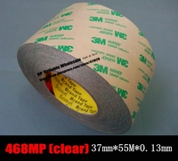 1x 37mm 50 Meters 0 13mm Thickness 3M 468MP Double Sided Coated Adhesive Transfer Tape For