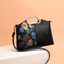89947bb297 Fashion Small Square Girl Shoulder Messenger Bag Women s Purses Crossbody  Bags Gilding Flower Women Leather Tote