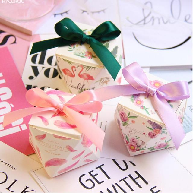 10 Pcs Octagonal Exquisite Wedding Favors Gift Box European Style