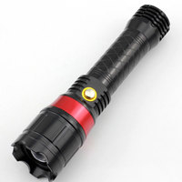 Infrared Flash Light Q5 280 Lumens Waterproof 3 Modes Zoomable Tactical Flashlight By 18650 Or 3*aaa Red Laser Torch Light