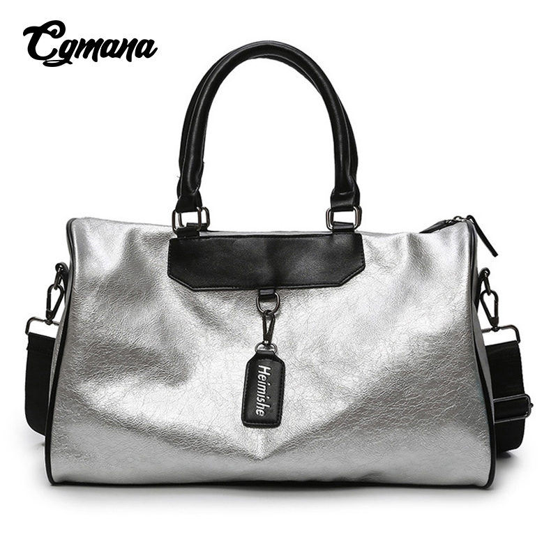 Sports Bag Lady Luggage Bag 2019 Women Duffle Fashion Travel Bags Gym Leather Women Yoga Fitness Sac De Sport Big Weekend Bags