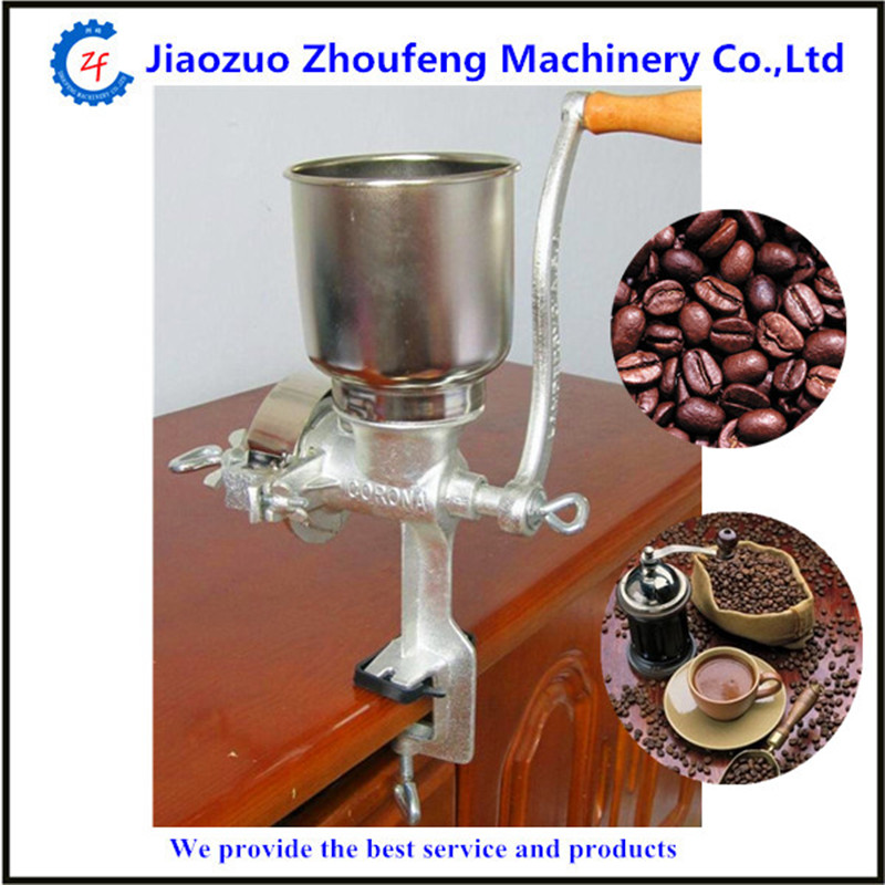 Hand operating grain mill home use manual corn coffee cocoa bean grinder machine   ZF multifunction corn flour mill machine home use manual maize rice soybean peanut coffee cocoa beans grain grinder