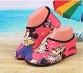 Crianças dos desenhos animados minnie super leve sneaker sapato natação snorkeling praia shoes anti-slip shoes barefoot cole pele macia shoes