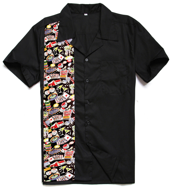 Candow olhar 2017 novos designs marca top de algodão bonito casino hiphop impressão rockabilly vintage 40 s 50 s clube americano painel camisas